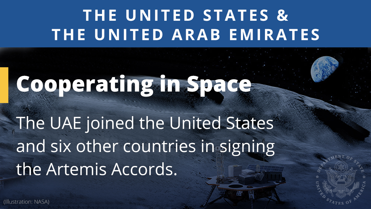 The UAE joined the United States and six other countries in signing the Artemis Accords with the goal of extending human activities to the Moon and Mars. https://t.co/8BamZZ9RFG https://t.co/0laPULm5yt