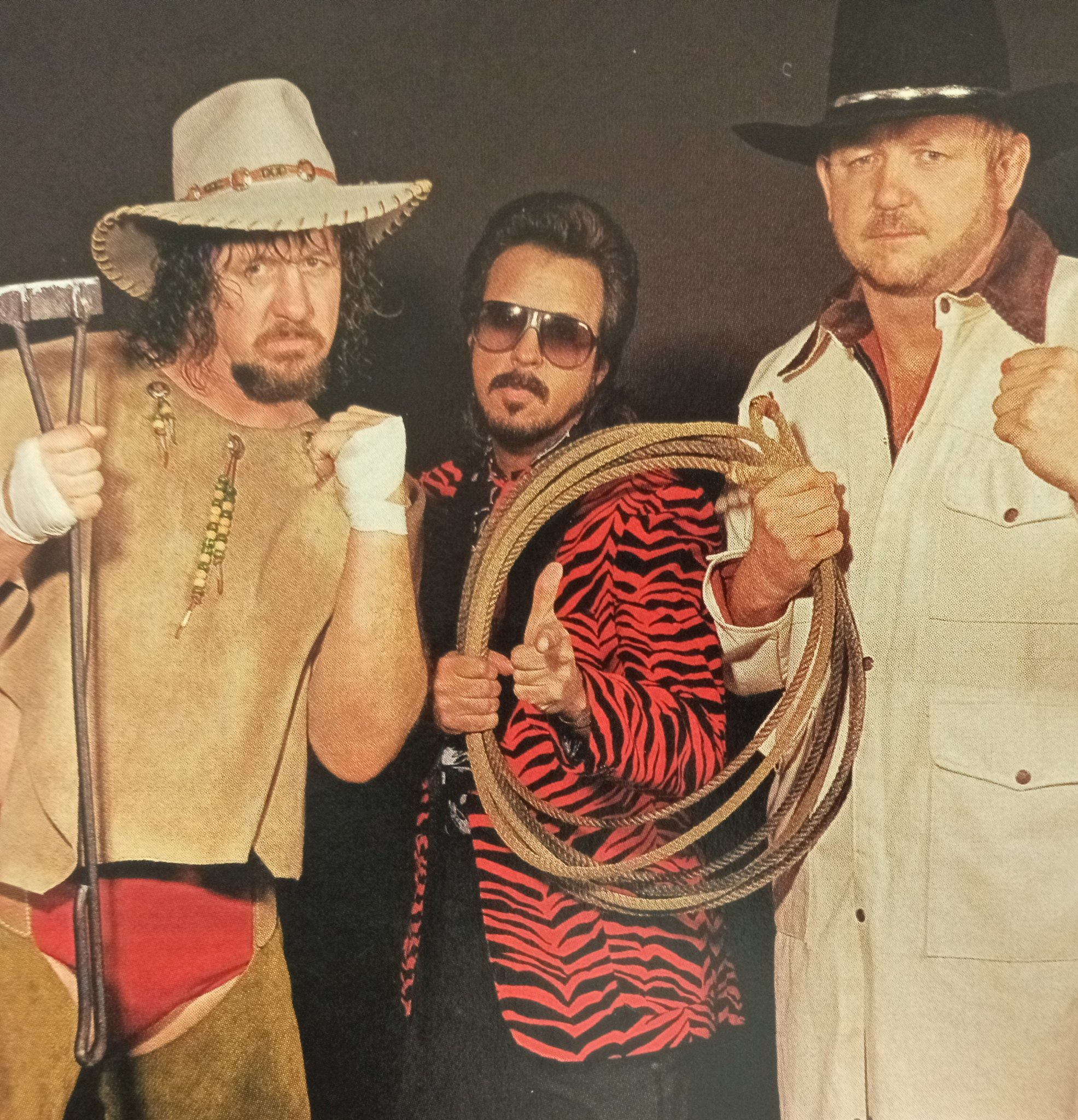 """Rasslin' History 101 on Twitter: """"Brothers Terry and Hoss(Dory Funk  Jr.)Funk,managed by Jimmy Hart back in 1986… """""""