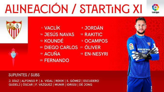 EnXFSinWEAIKizt?format=jpg&name=small Alineaciones oficiales del Sevilla-Celta - Comunio-Biwenger