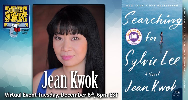 We are co-sponsoring a #virtualevent in honor of the #paperback release of SEARCHING FOR SYLVIE LEE by @JeanKwok, hosted by @WmMorrowBooks. Jean will be in conversation with @Rumaan. Tickets include a #signedcopy of the book & admission. Get your ticket at