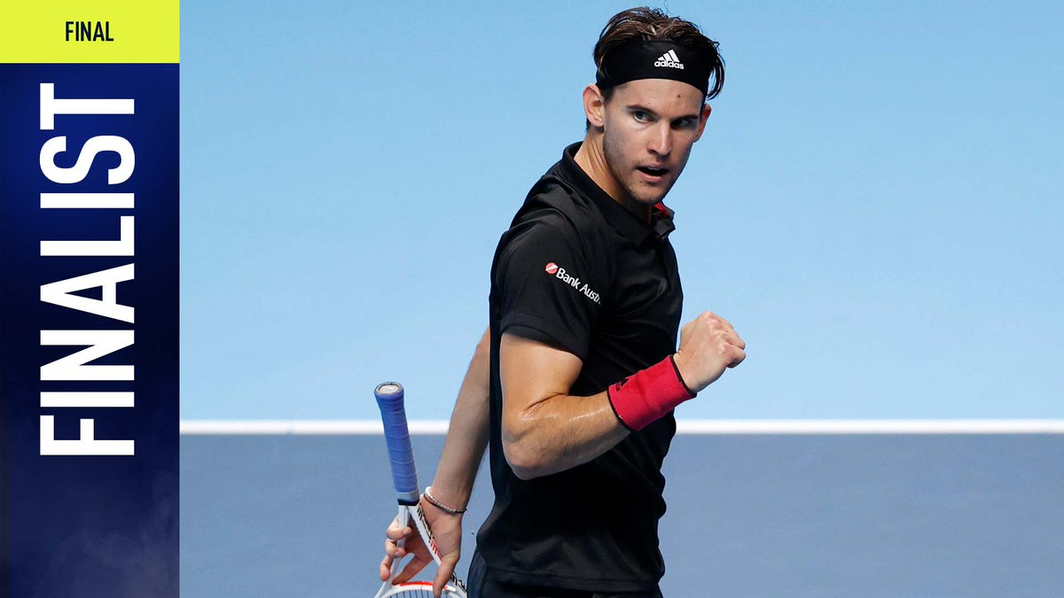 THIEM RETURNS TO THE FINAL!  With his 300th career win, 🇦🇹 @ThiemDomi beats Djokovic 7-5, 6-7(10), 7-6(5) to make it back-to-back finals at the #NittoATPFinals 👏 https://t.co/WTQgx6jDYP