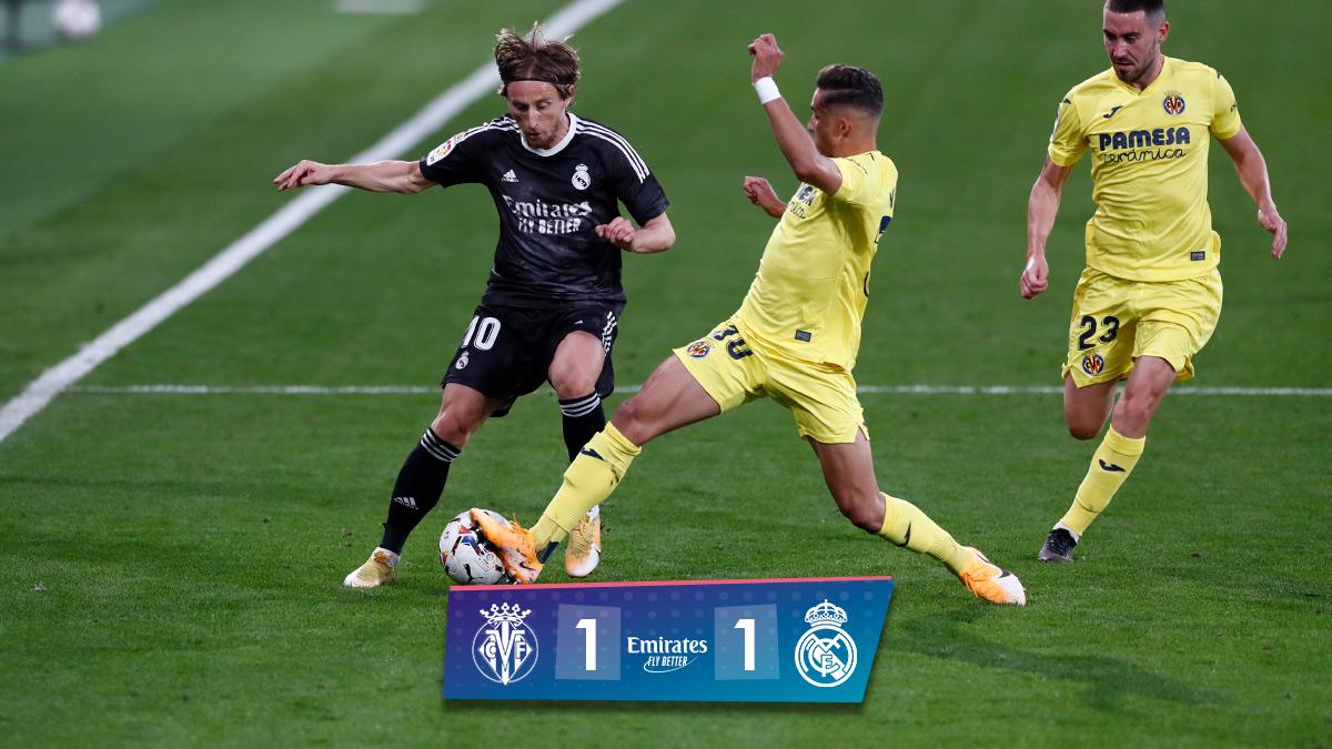 🏁 نهاية المباراة!   فياريال 1-1 ريال مدريد  ⚽ د.2 @marianodiaz7 🔴 د.76 Gerard (ضربة جزاء)  #Emirates #هلا_مدريد
