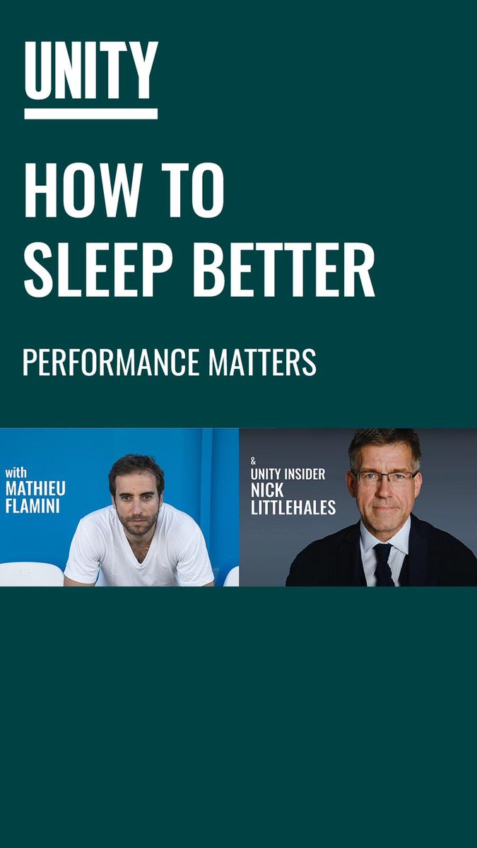 Join me as I chat with @oneunity insider, Nick Littlehales, in our new series, Performance Matters. This week, Nick explains how you should stop chasing 8 hours of sleep a night and what you should be doing to ensure optimum recovery 💪 👇