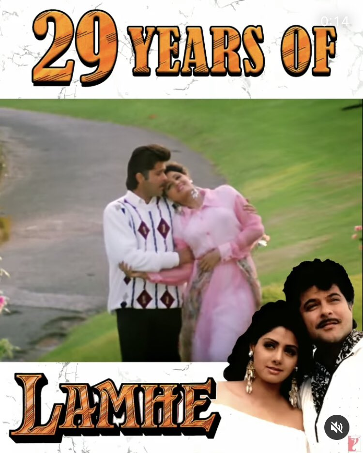 One of the very few films ahead of its time and my personal favourite ♥️  @AnilKapoor @AnupamPKher @yrf #Sridevi #YashChopra #29YearsofLamhe