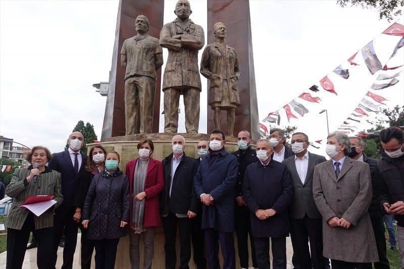 """DarkWeb Haber ???? on Twitter: """"İBB Başkanı Ekrem İmamoğlu, Bakırköy Belediyesi'nce sağlık çalışanlarına destek için yaptırılan heykel açılışına katıldı.… https://t.co/OczHbOyN7p"""""""