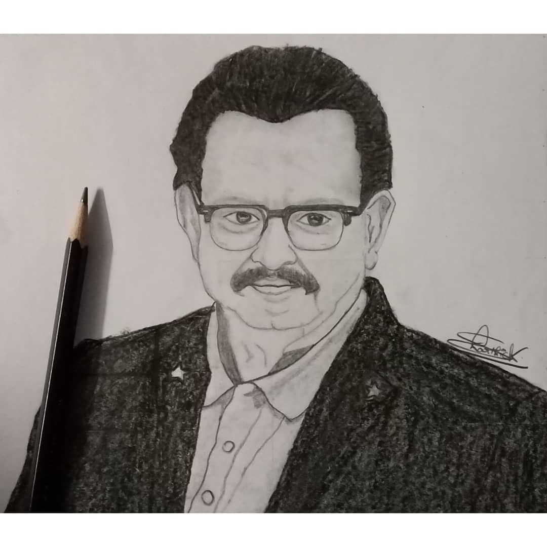 Legend SPB...❤️❤️❤️ Pencil sketch #Legend #SPBalasubrahmanyam #spb #spb_சரண் #indrumspb #ValimaiFirstLook #ripspb #art