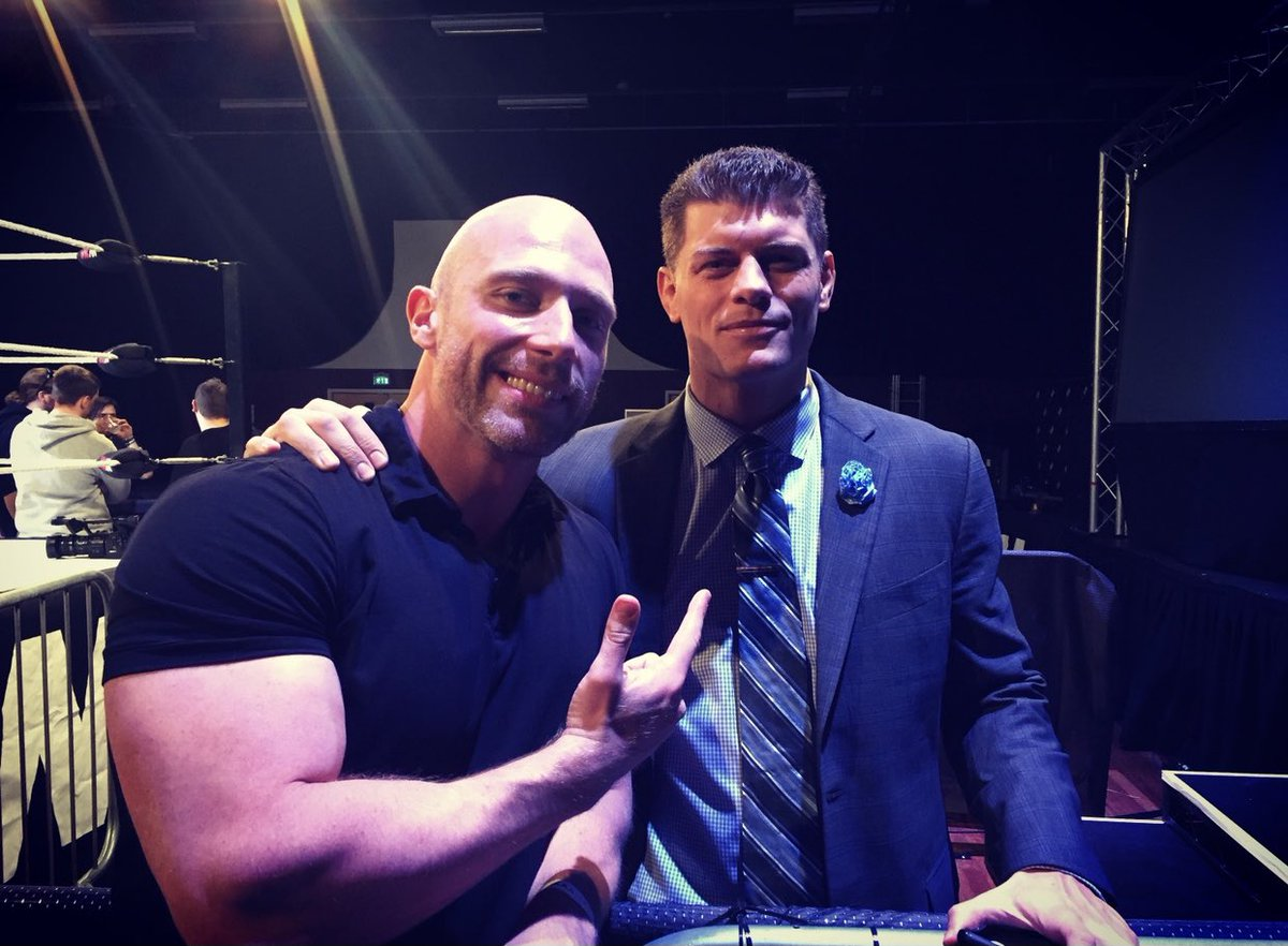 "This was taken 4 years ago at a WCPW show. Imagine I had tweeted it and said ""In 3 years this man will help start a huge, competitive wrestling company."" No one would have believed it! Bet on yourself. Go after your dreams. Be like @CodyRhodes!"