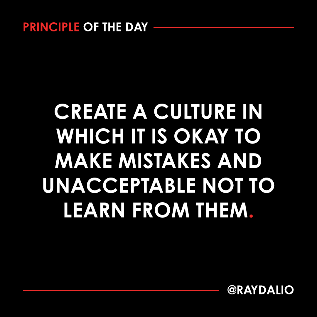 Everyone makes mistakes. The main difference is that successful people learn from them and unsuccessful people don't. By creating an environment in which it's okay to safely make mistakes so that people can learn from them, you'll see rapid progress and fewer significant mistakes https://t.co/xTYDWfIbGR