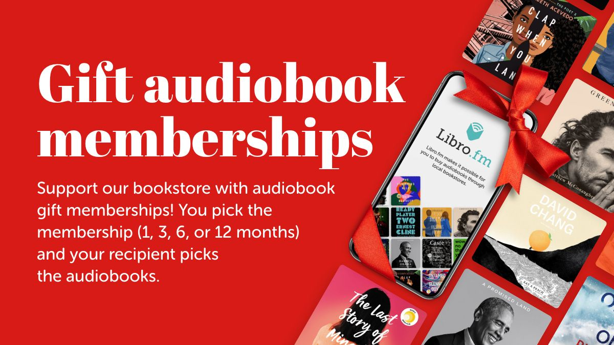 Love #audiobooks? Support us this holiday season with @librofm!  Gift memberships: ➡️can be sent to anyone in the world ➡️allow the recipient to pick their audiobooks ➡️never expire ➡️are a great last minute gift ➡️support our bookstore