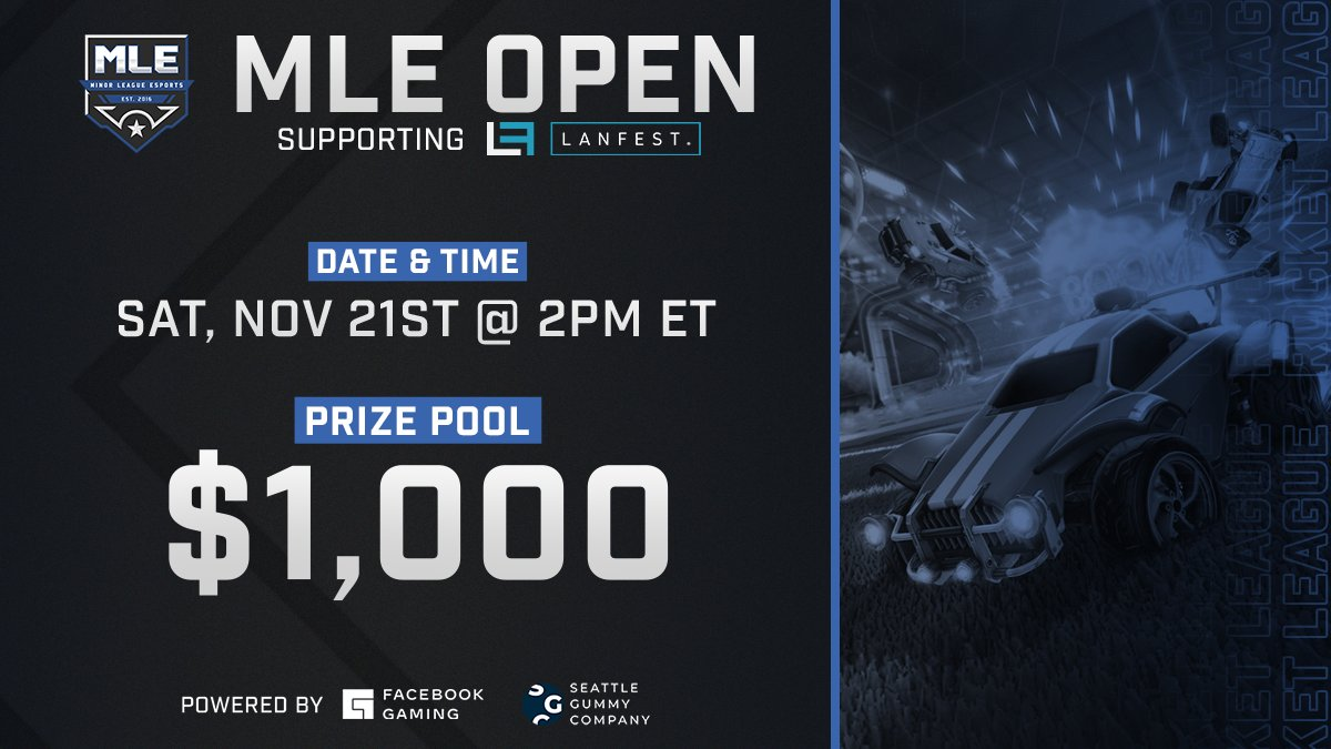 Up next we have @MLEsportsGG's @RocketLeague $1,000 Tournament powered by Facebook Gaming! Watch now for high flying goals and endless action!  🏎️🏆 |