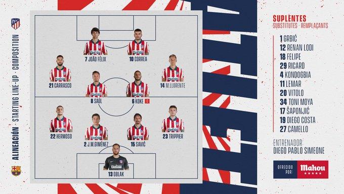 EnXpfGJW4AYzFYr?format=jpg&name=small Alineaciones oficiales del Atlético de Madrid - Barcelona - Comunio-Biwenger