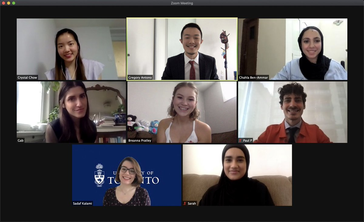 virtual convocation watch party with my MA cohort — it's been a wild year but we did it!! 👨🏻🎓🎉  so proud of us @PaulDPoirier @brescriptivist @chalisssa #UofTgrad20 @UofTLinguistics