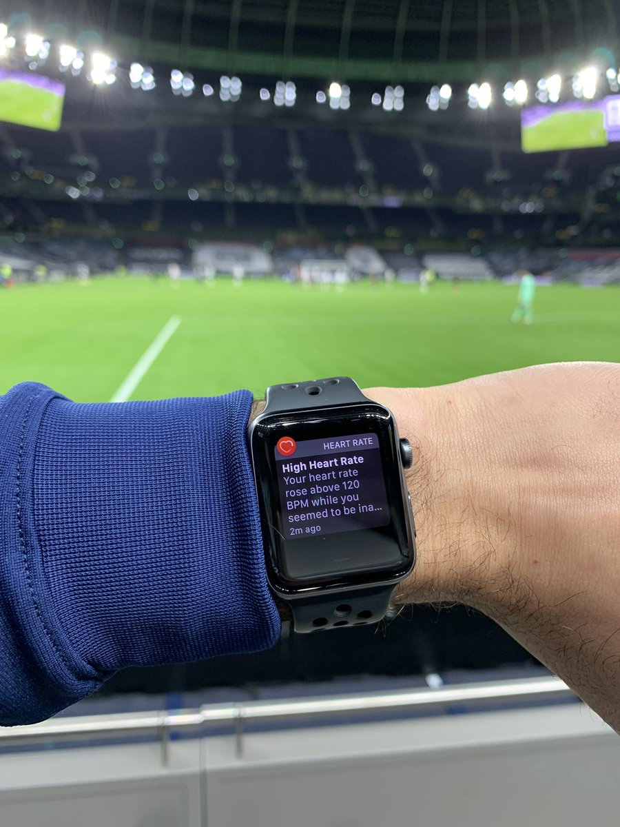 Yes Apple Watch, this is what it's like to watch Spurs #thfc #coys