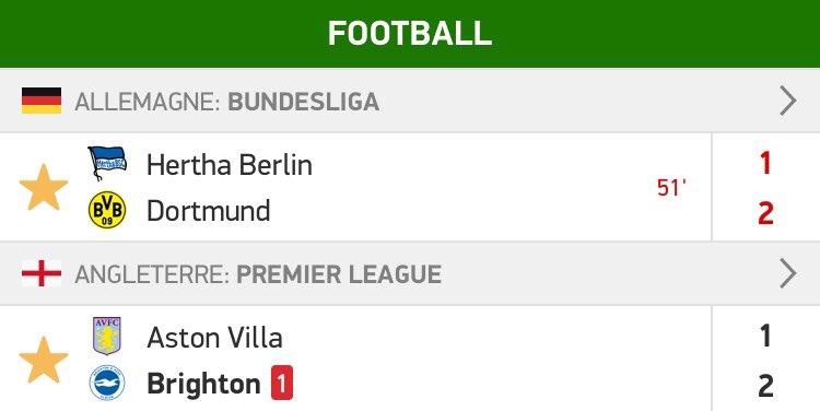BOOOOMM c'est fait 3/3 sur les BTTS 🤑🔥  Aston Villa vs Brighton 1,54 ✅ Hertha Berlin vs Dortmund 1,58 ✅ En combi 2,43 ✅  ❤️ pour le soutiens  #TeamParieur https://t.co/lGBbWIwDeD