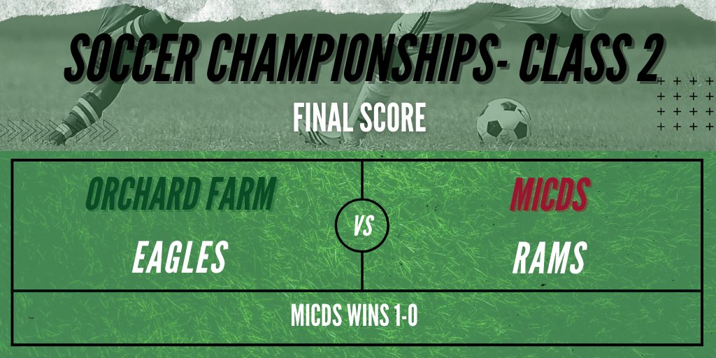 🏆⚽️ After a rain delay, the Class 2 state championship finishes with MICDS taking the title 1-0