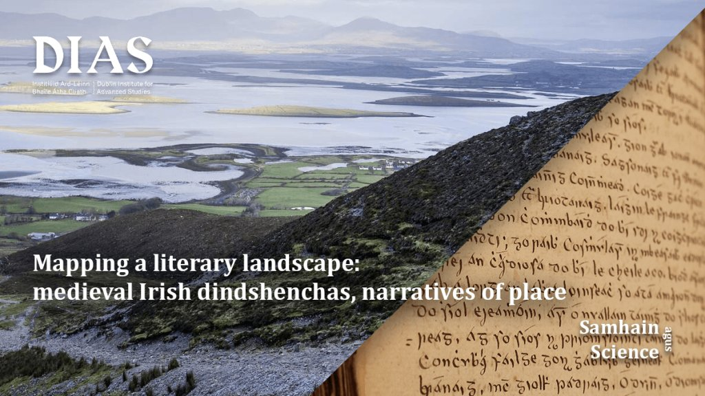 test Twitter Media - 'Mapping a literary landscape: medieval Irish dindshenchas, narratives of place' by Prof Máire Ní Mhaonaigh, which was part of Samhain agus Science on Mon 2nd Nov @DIAS_Dublin is now available online #DIASdiscovers #enjoy  https://t.co/6QZ7b95rSa https://t.co/d50ImzKCtq