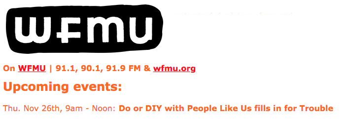 I'm back on the radio on Thursday on @WFMU 9-Noon (2-5 UK)