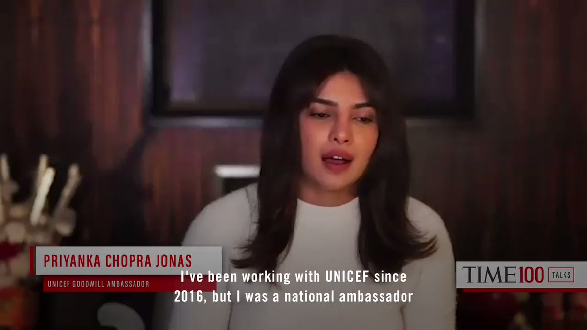 At a #TIME100Talks, Priyanka Chopra Jonas (@priyankachopra) speaks on the importance of education https://t.co/CwznFbUXzF https://t.co/mLT5WzkZIX