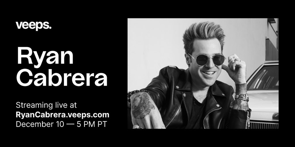 For the first time ever, @RyanCabrera will be performing 'Take It All Away' acoustic & LIVE from front to back on 12/10. Tickets & merch on sale now.