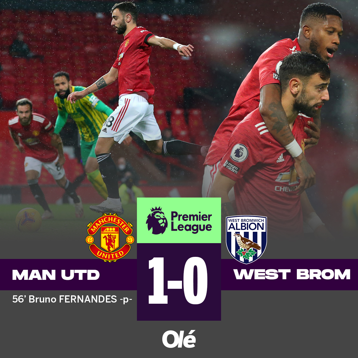 ⚽️🏴 PREMIER LEAGUE  🇦🇷💥 Gol de LO CELSO para el 2-0 de Tottenham vs. Manchester City. 🇵🇹 Manchester United ganó 1-0 (Bruno Fernandes de penal). 👎 Chelsea le ganó 2-0 a Newcastle (gol e/c de Fede Fernández).  🧤 Emi Martínez atajó en la derrota 2-1 de Aston Villa ante Brighton. https://t.co/kU3PFU3tUq