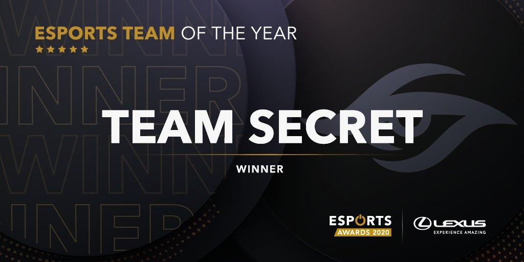 """Esports Awards on Twitter: """"The winner of the Esports Team of the Year is @teamsecret from DOTA #EsportsAwards… """""""