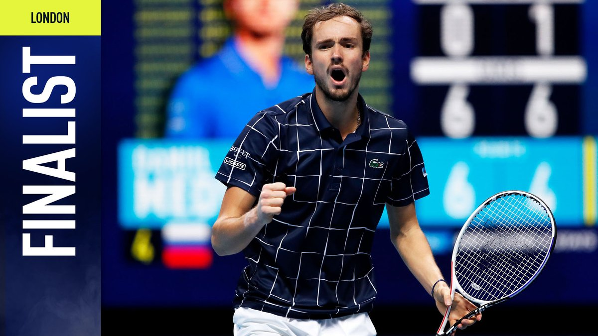 First win over Nadal, first final in London 👏  @DaniilMedwed completes an incredible 3-6, 7-6(4), 6-3 comeback!  #NittoATPFinals https://t.co/GgT5wPLAeL