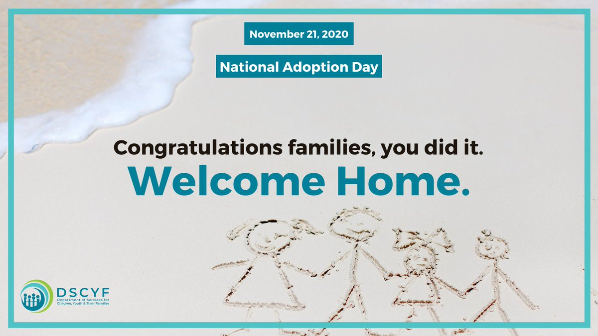 Happy National Adoption Day to our families! We are so proud and excited to celebrate the incredible journey of adoption with you today, and all days.  To learn more about adoption in Delaware, please visit  #allinDE #AllInForWaitingKids