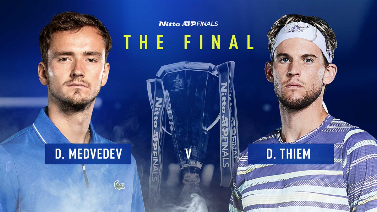 It all comes down to this! Who will take the title? 🏆  @DaniilMedwed | @ThiemDomi | #NittoATPFinals https://t.co/PlENOq7HGF