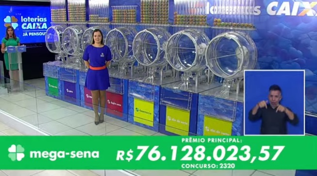 Confira o resultado da Mega-Sena 2320 deste sábado; prêmio é de R$ 76 milhões  https://t.co/Ir2T36zUKW https://t.co/x3dfEwzDEV