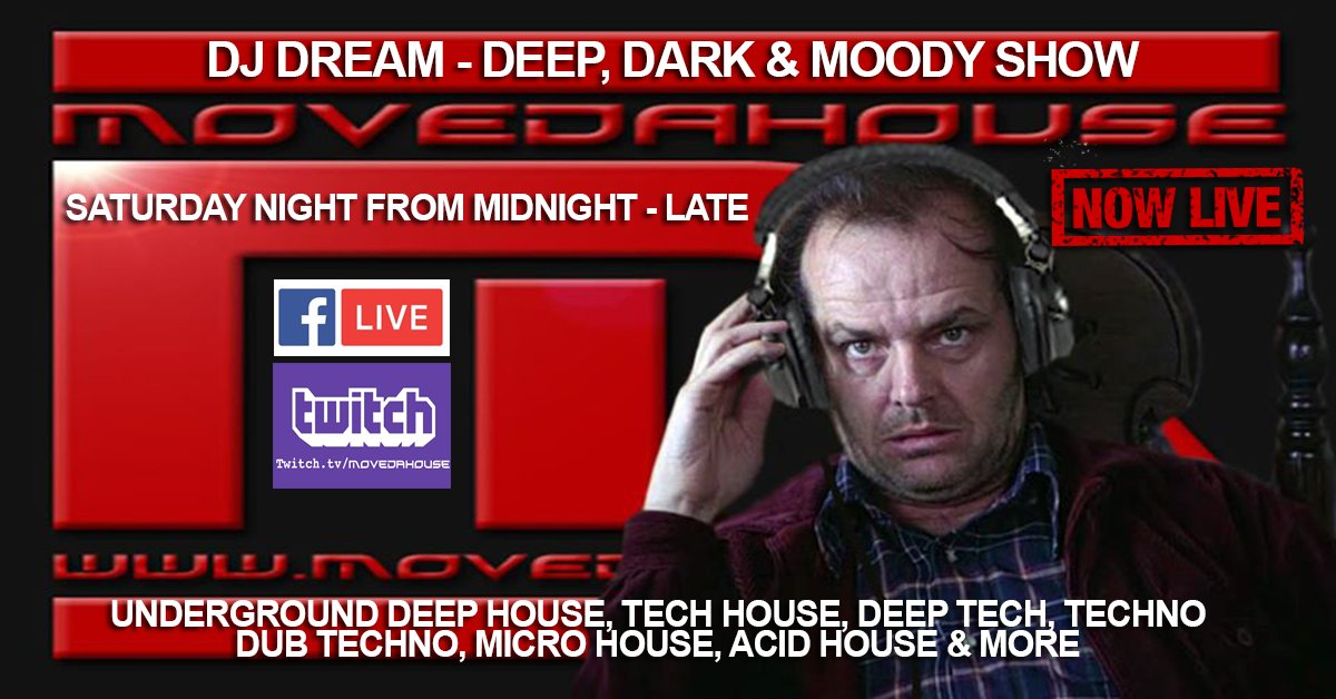 #NowPlaying #livestreaming #radioshow Midnight 12am-Late #UK #DJ Dream #inthemix #HouseMusic #deephousemusic #deephouse #TechHouse #techno #deeptech #microhouse #dubtechno #ACIDHOUSE  #worldwide #internetradio #MoveDaHouse #listen #watch #chat website:https://t.co/616h5fx4QT https://t.co/69t0pRlxqX