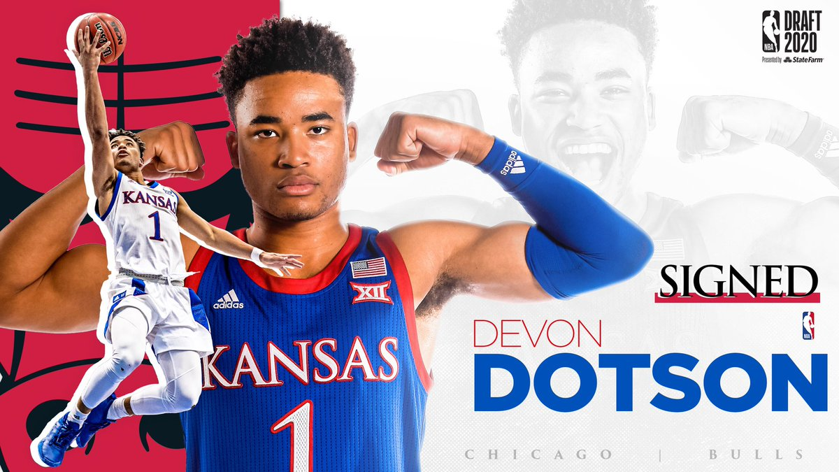 Chi-town bound! Pretty good fit if you ask us ✊  Congrats, @d_dotson1!    @chicagobulls x #NBAJayhawks https://t.co/ECuQk23DMy