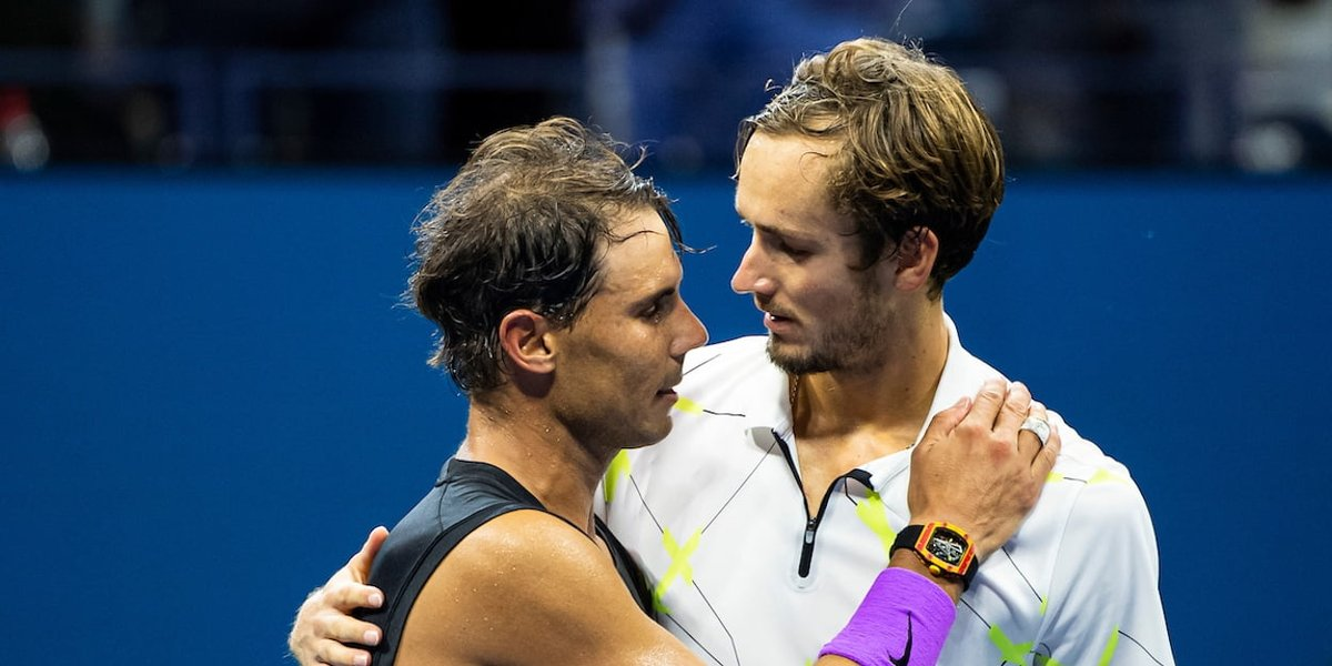 London. #NittoATP . Payback time. Hodie mihi cras tibi. @DaniilMedwed took revenge for his lost 2019 @usopen  final vs @RafaelNadal while@ThiemDomi avenged for his lost 2020 @AustralianOpen final vs @DjokerNole . All 4 clashes are treasured parts of tennis history. https://t.co/w2yJ6HsxPA