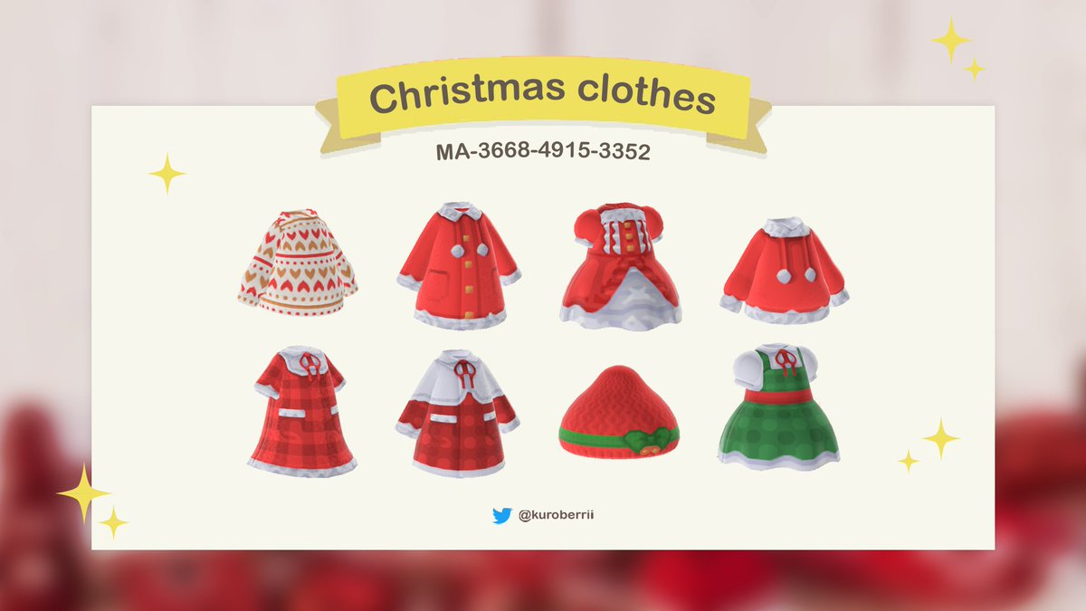 🎄 Christmas clothes 🎄 #ACNH #AnimalCrossing