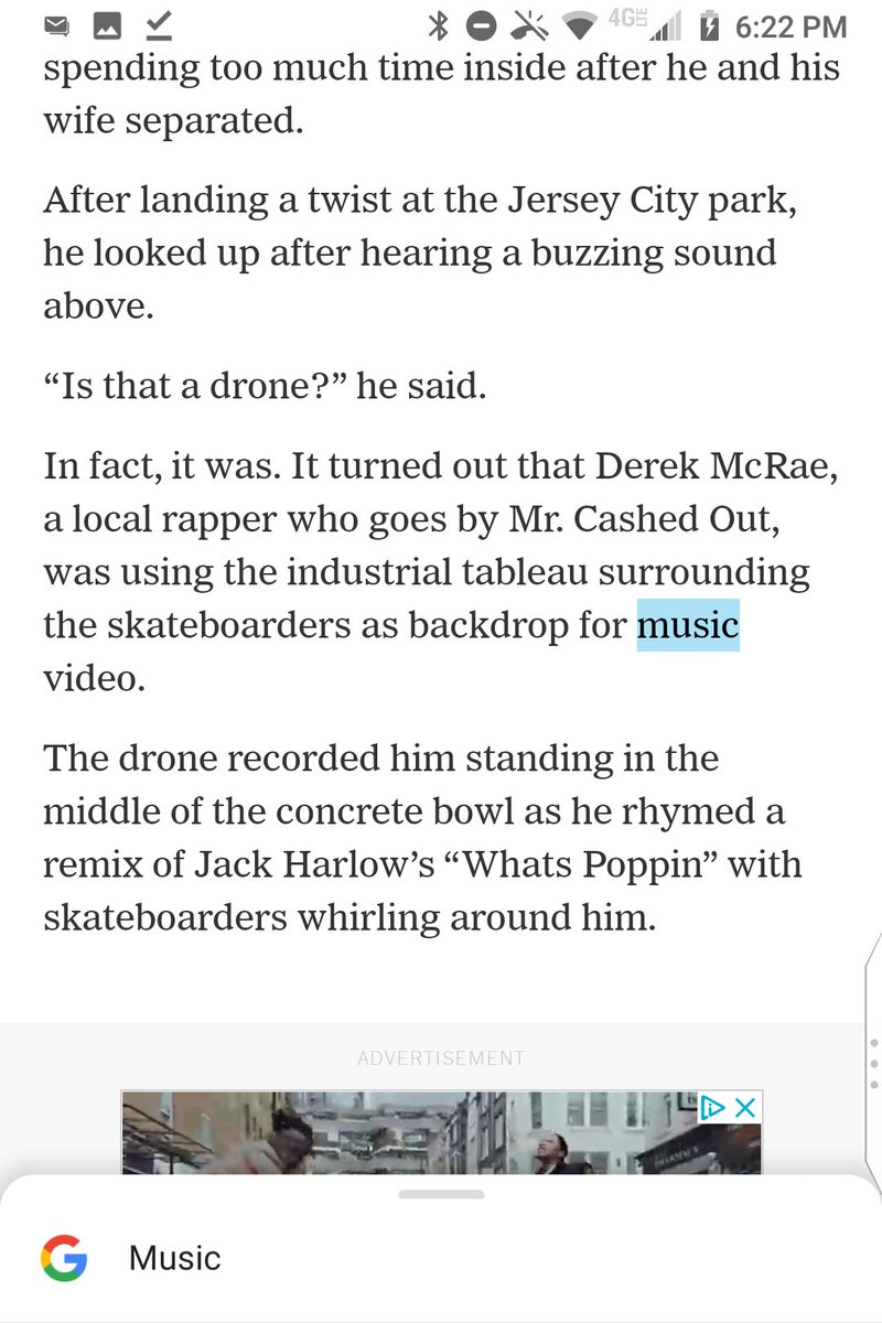 "@nytimes This is ungrammatical Timesian pidgin-English for lack of ""a"" before ""music video"":  Derek McRae, a local rapper who goes by Mr. Cashed Out, was using the industrial tableau surrounding the skateboarders as backdrop for music video.  @KevinGArmstrong https://t.co/PiCtVE4pQd"