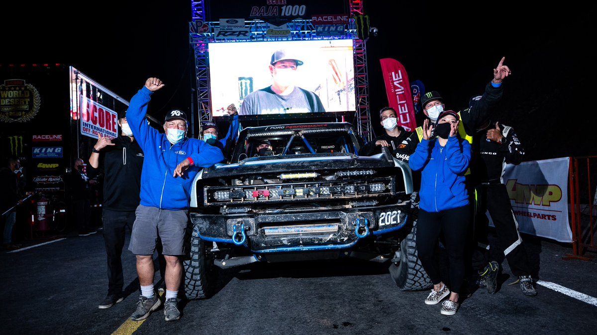 What a team effort. What a team. What a race. For the #Baja1000, simply finishing is its own reward, and what a reward it is.   We brought the #BroncoR here to test, develop and prove. We're so proud of everyone's #BuiltWild efforts! #FordBronco https://t.co/XsPTkjK9fK