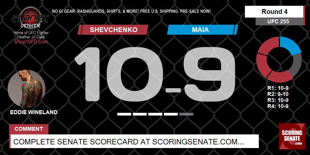 10-9 Shevchenko R4  #UFC255 #ScoringSenate #MMA  Scorecard: https://t.co/PYphoynojx https://t.co/ezrH49vMlB