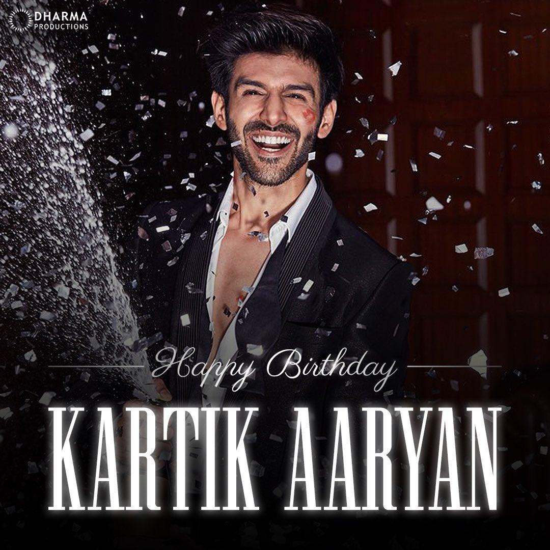 This charmer has an undeniable 'Dostana' with every heart! Wishing @TheAaryanKartik a very happy birthday!😍 #HappyBirthdayKartikAaryan