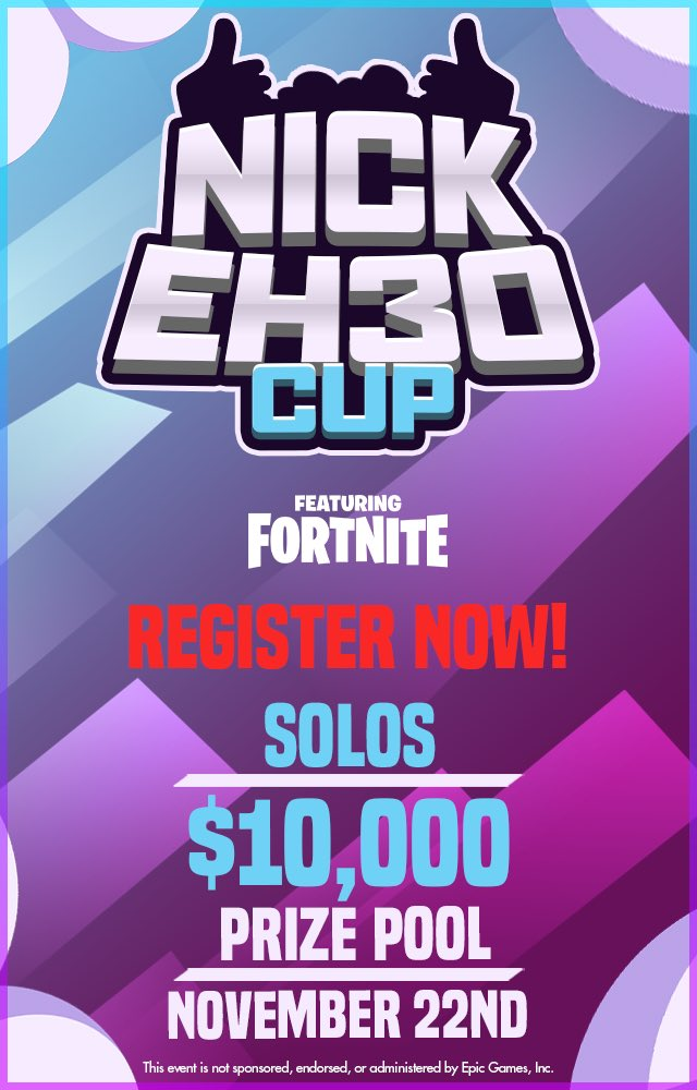 Nick Eh - Who's playing in the Nick Eh 30 Cup?  Tomorrow, 3pm EST.