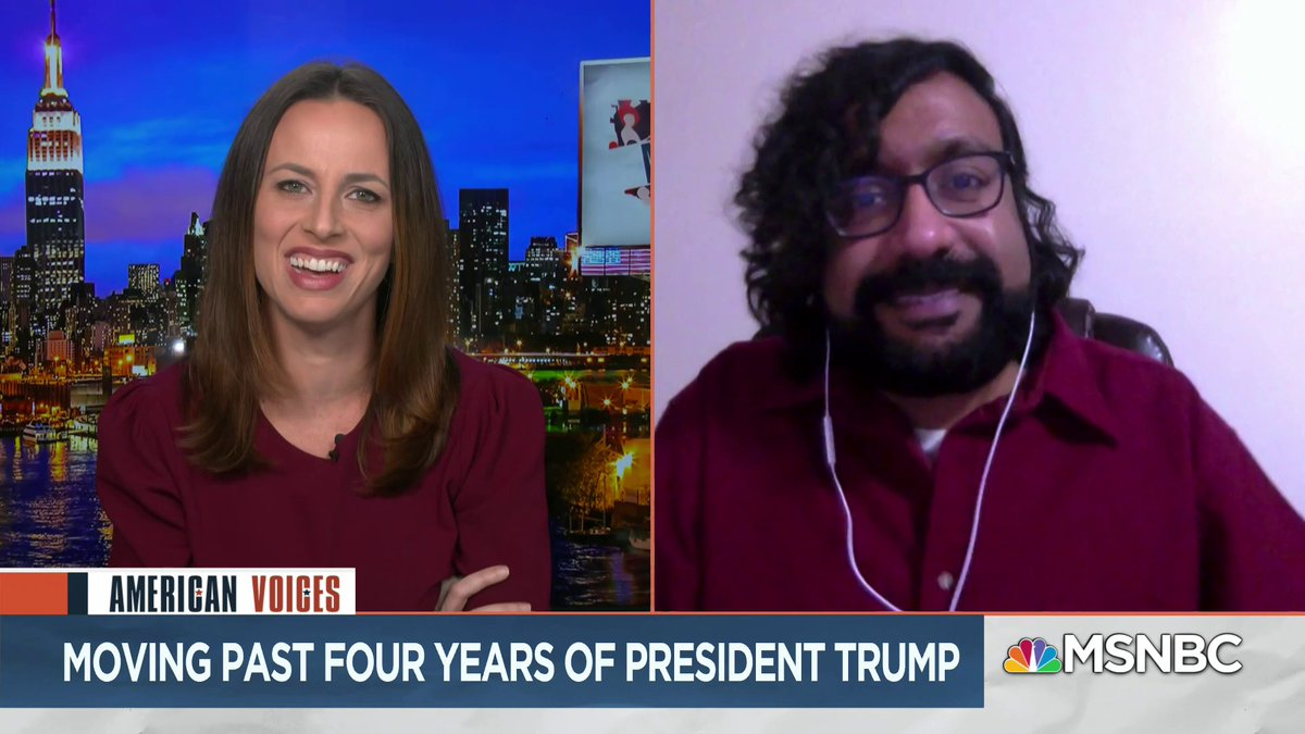 In case anybody was looking for how to explain this election to someone who didnt live through it, @harikondabolu breaks it down for you, and it all started when a reality TV star became President. Check out the rest of the synopsis he gave @AliciaMenendez. #AmericanVoices.