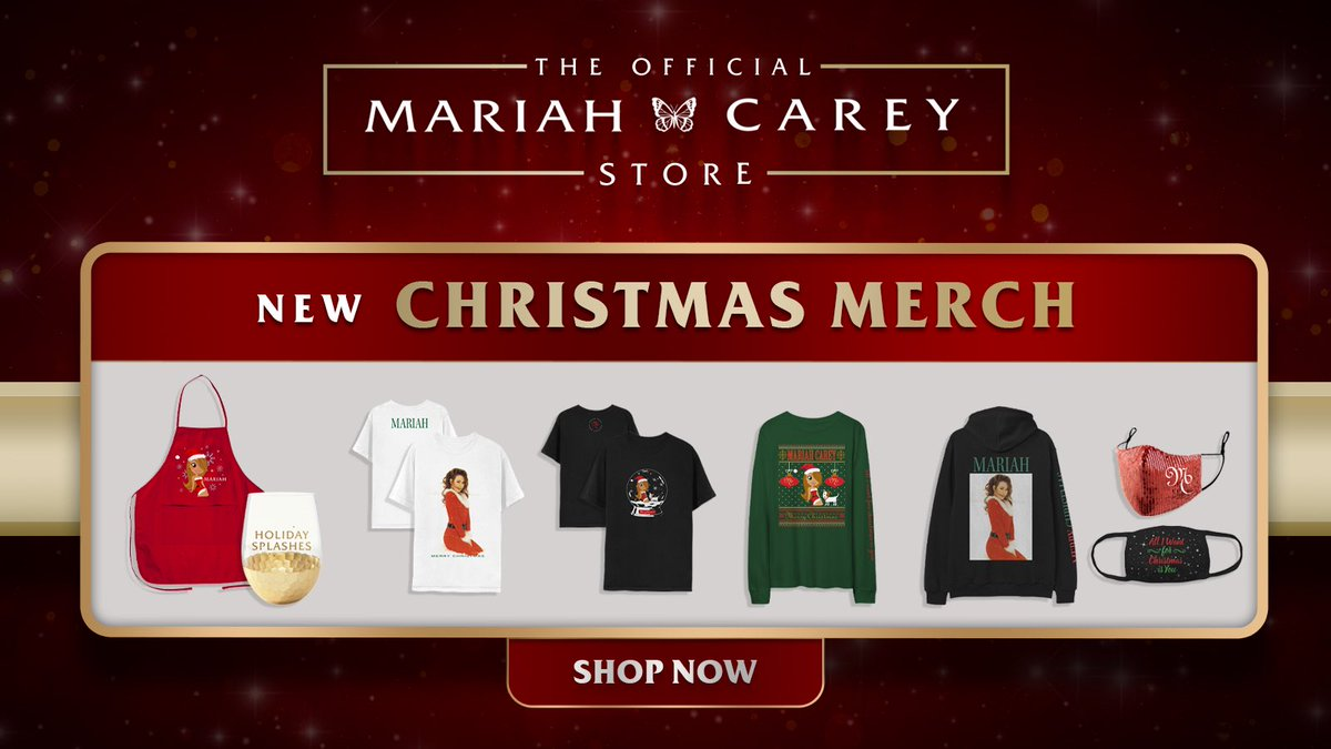 New Christmas merch now available @ ! Can't wait to celebrate the holidays with you 🎄😍 So many exciting moments to come🎉💝  #MC30 releases will resume in 2021! 🦋
