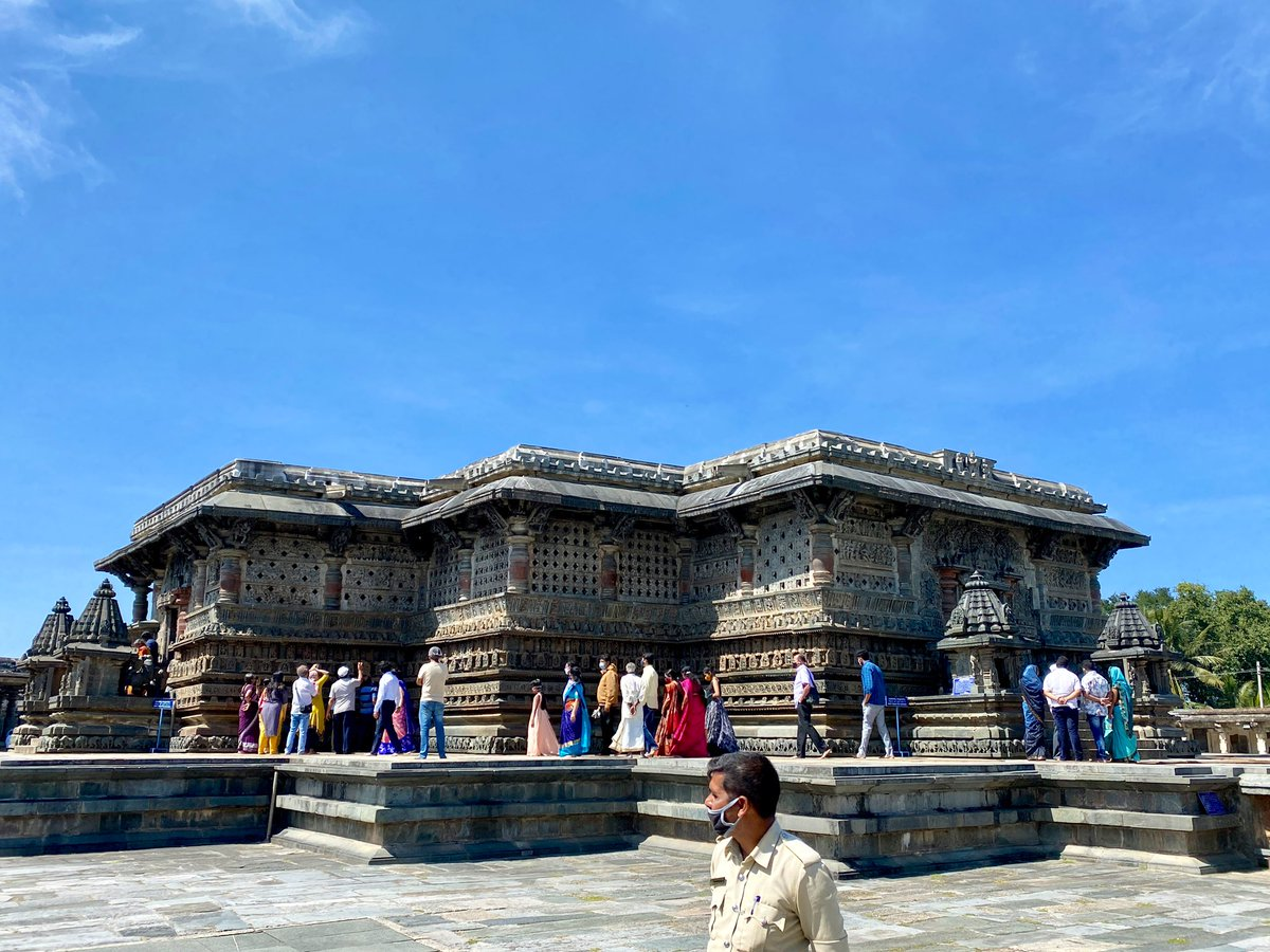Visited 2 ancient temples dedicated to Vishnu & Shiva in Belur & Halebidu, y'day.The intricate carvings would pale anything in the world.  Shd be on the 'Must see' list of visitors from anywhere. They're beyond stupendous.  #IncredibleIndia #JaiHind @tourismgoi @KarnatakaWorld