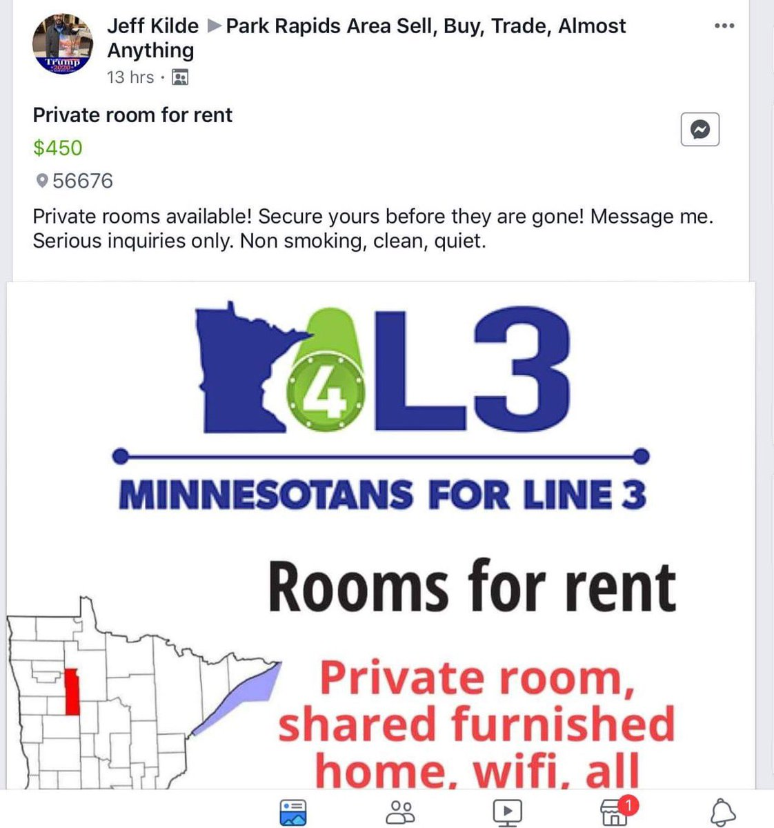 @GovTimWalz Then why the man camps is permitted