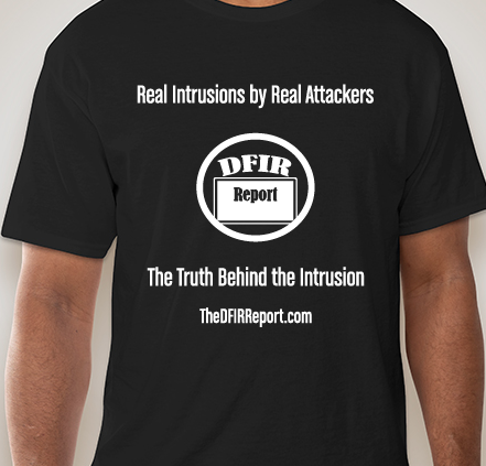 New report on Mespinoza/PYSA ransomware coming soon! Youll see mentions of Koadic, Empire, and 5+ different credential access methods. Limited supply of The DFIR Report t-shirts available @ patreon.com/thedfirreport.