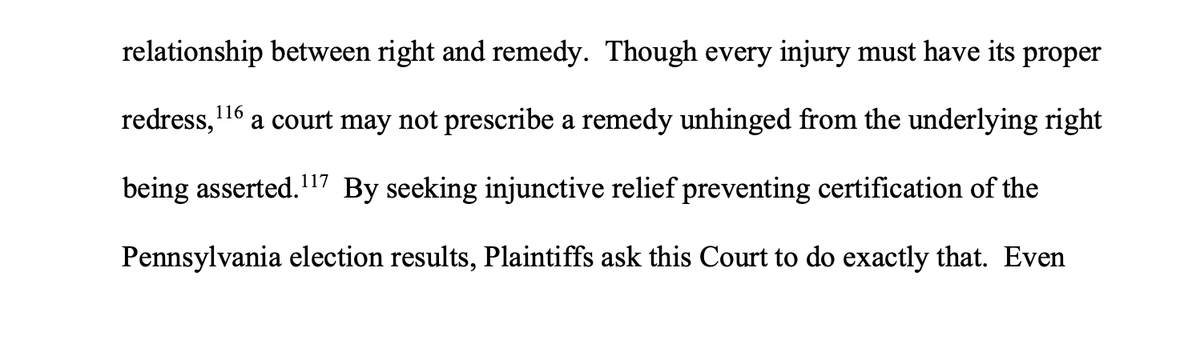 Judge Brann sneaks in the word unhinged in its not usual context on page 30 #PennsylvaniaElection