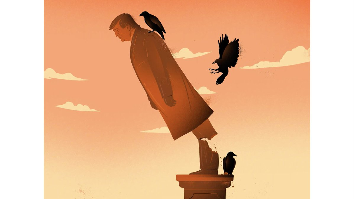 Crows have absolutely had it. (There's an article too, but that art! theguardian.com/books/2020/nov…)