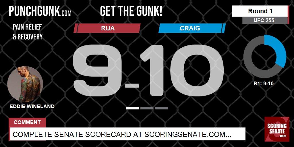 10-9 Craig R1  #UFC255 #ScoringSenate #MMA  Scorecard: https://t.co/PYphoynojx https://t.co/INoKyniNea