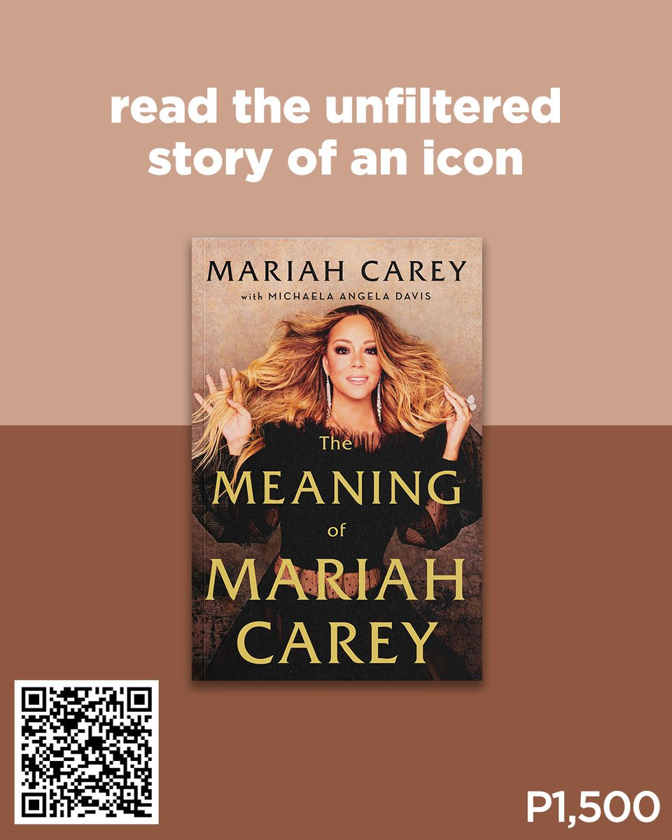 Limited stocks available! Get your copy of The Meaning of Mariah Carey for P1,500 (hardcover).  Scan the QR Code or visit . #MariahCarey #TheMeaningOfMariahCarey #NBSNewReads #NBSbookstagram #NBSeveryday