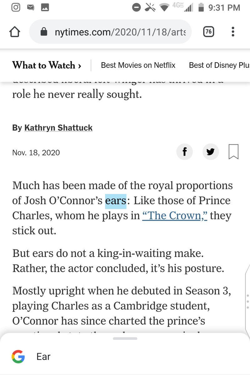@nytimes All the content that's fit to print about the Prince Charles Crown actor's big ears https://t.co/G6IXM0UXh7