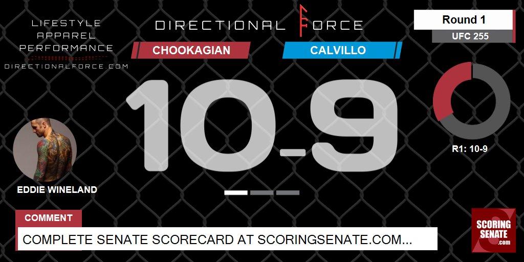 10-9 Chookagian R1  #UFC255 #ScoringSenate #MMA  Scorecard: https://t.co/PYphoynojx https://t.co/7qCQX7lTAo