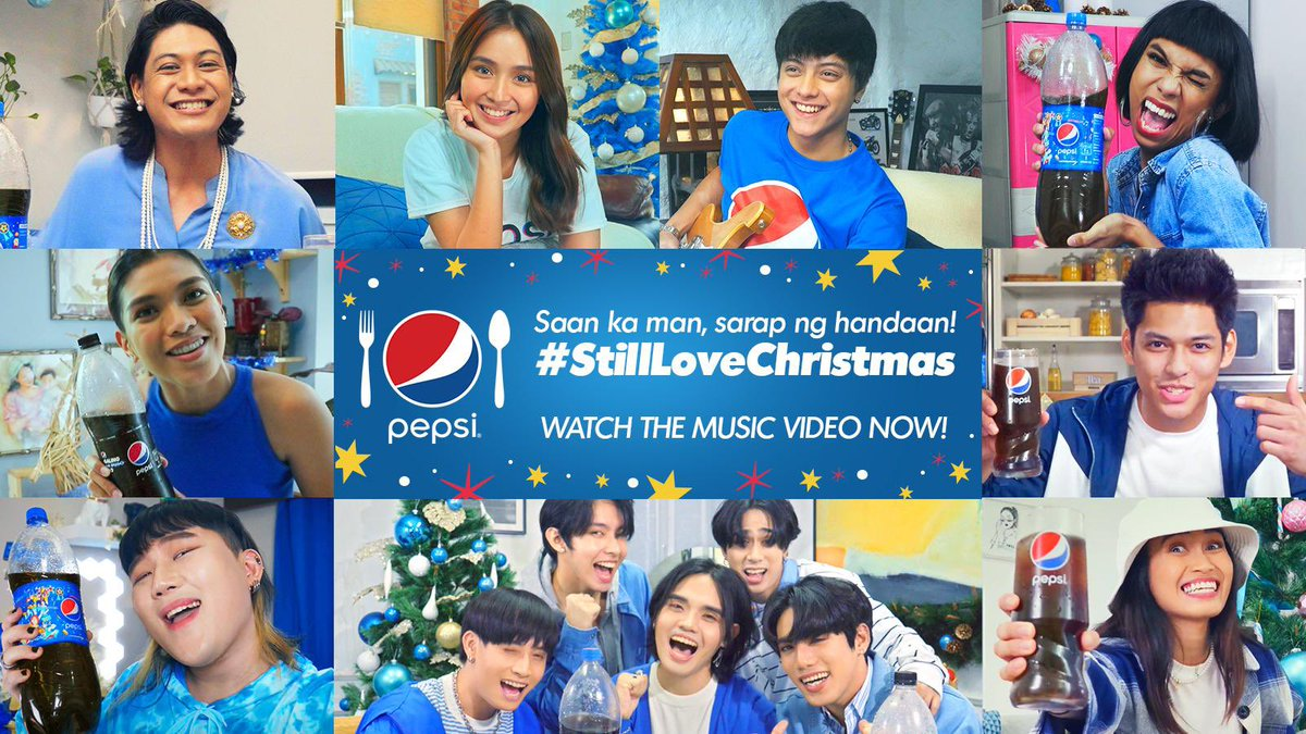 Your ghorl #StillLoveChristmas dahil nagce-celebrate pa rin ang buong barkada whenever they are, near or far! PAK!💙  Panoorin po ang aming newest video at ikwento samin bakit parin kayo excited sa Pasko? #PepsiLovesChristmas @pepsiphl